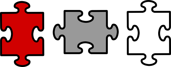 Puzzle Pieces Connected Clip Art at Clker.com - vector ...