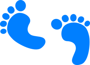 baby feet blue clip art at clker com vector clip art online rh clker com baby foot print clip art free baby hand and foot print clip art
