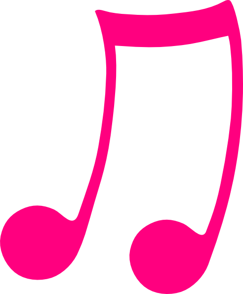 pink musical note clip art at clker com vector clip art online rh clker com clip art musical notes and instruments clipart musical notes