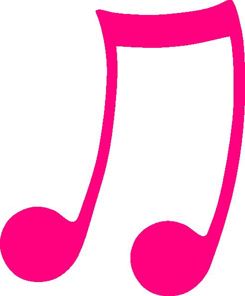 pink musical note clip art at clker com vector clip art online rh clker com clip art music notes symbols clipart musical notes