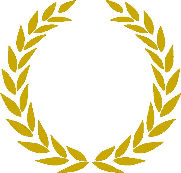 gold wreath clip art at clker com