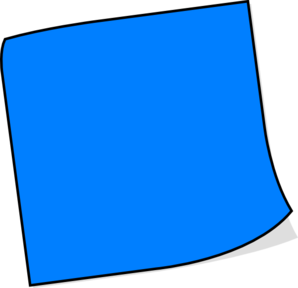 Blue Sticky Note Clip Art