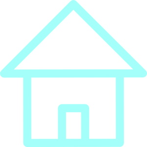 Home Icon Simple Frame Pale Vlue Clip Art
