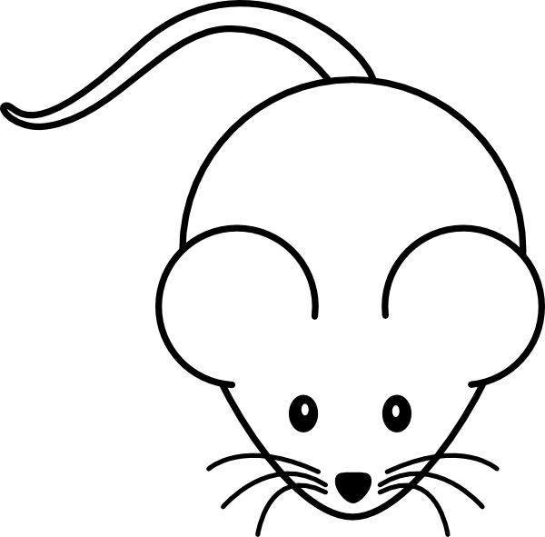Mouse Black White Clip Art at Clker.com - vector clip art ...
