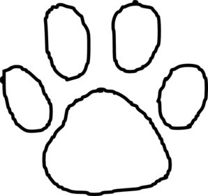 Tiger Paw Print Outline Clip Art