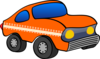 Orange Cartoon Car Clip Art