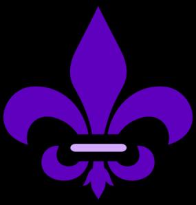 fleur de lis in purple clip art at clker com vector clip no saints logo vector saint gobain logo vector