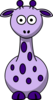 Purple Giraffe With 12 Dots Clip Art