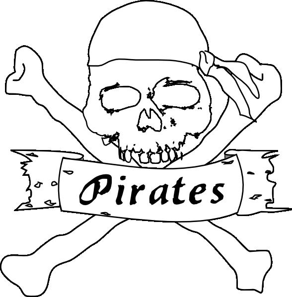 Pirate Bw Clip Art at Clker.com - vector clip art online ...