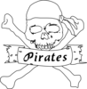 Pirate Bw Clip Art