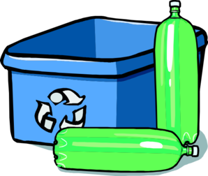 Recycle Blue Bin Bottles Clip Art