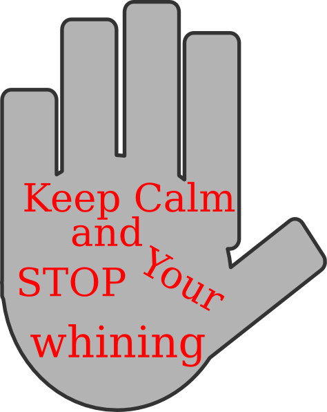 Stop Whining Clip Art at Clker.com - vector clip art ...