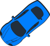 Blue Car - Top View - 220 Clip Art