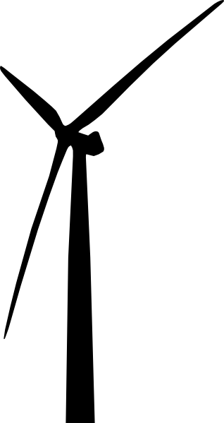 wind turbine facing left clip art at clker com vector clip art rh clker com wind turbine clip art free wind energy clipart