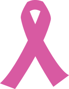 Ribbon For Cancer Darker Pink Clip Art