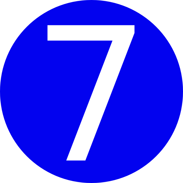 Blue, Rounded,with Number 7 Clip Art at Clker.com - vector clip art ...