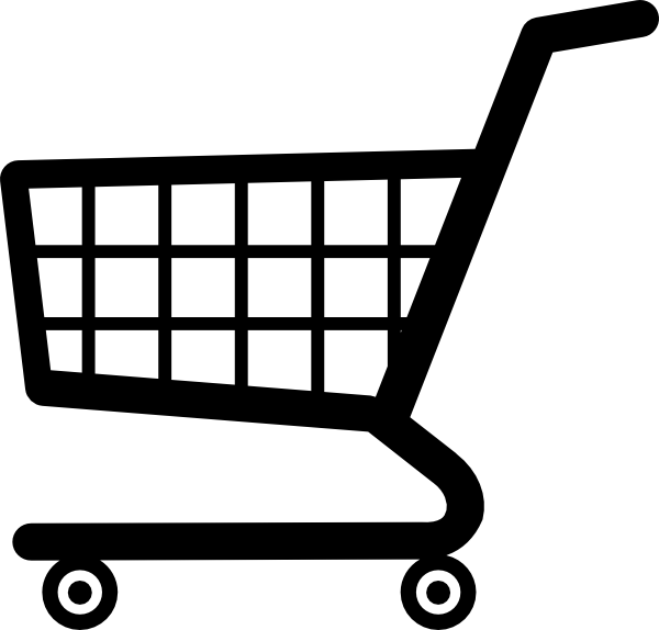 White Shopping Cart Icon Png