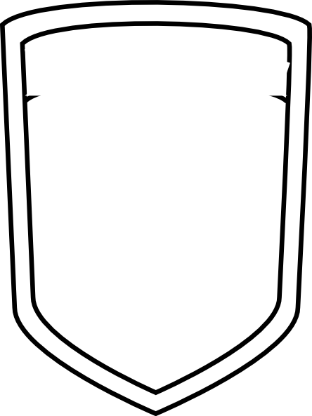 Blank shield outline for Blank shield template printable