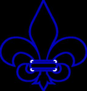 royal blue fleur de lis clip art at clker com vector clip art rh clker com free printable fleur de lis clipart fleur de lis border clip art free