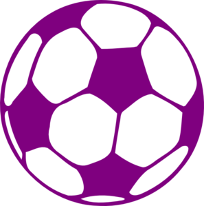 Purple Soccer Ball Clip Art
