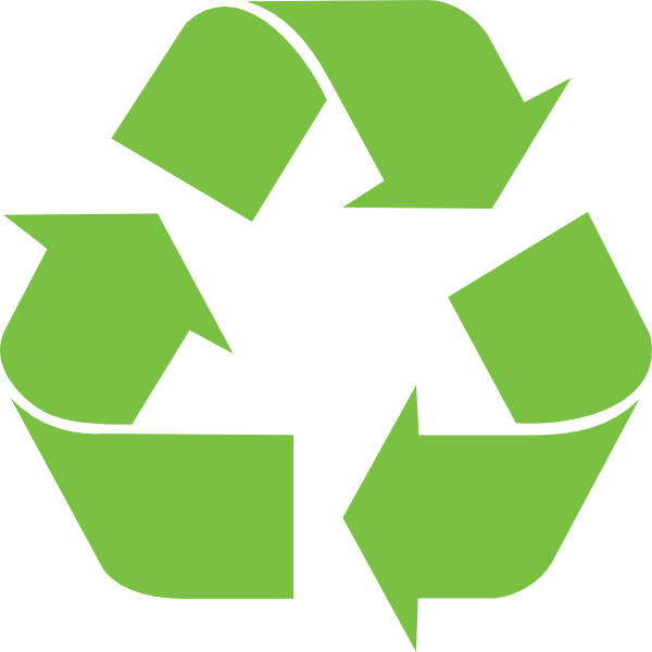 green recycle sign clip art at clkercom vector clip art