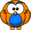 Orange And Blue Hoot  Clip Art