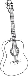 Guitar With Thicker Lines Clip Art