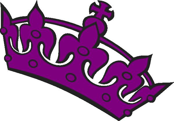 Purple Tilted Tiara Clip Art at Clker.com - vector clip ...
