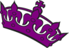 Purple Tilted Tiara Clip Art
