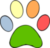Colorful Paw Print Clip Art