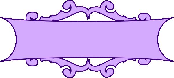 purple scroll banner clip art at clker com vector clip art online
