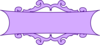 Purple Scroll Banner Clip Art