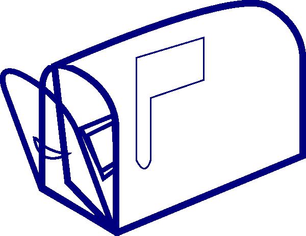 Blue Clear Mailbox Clip Art at Clker.com - vector clip art online ...