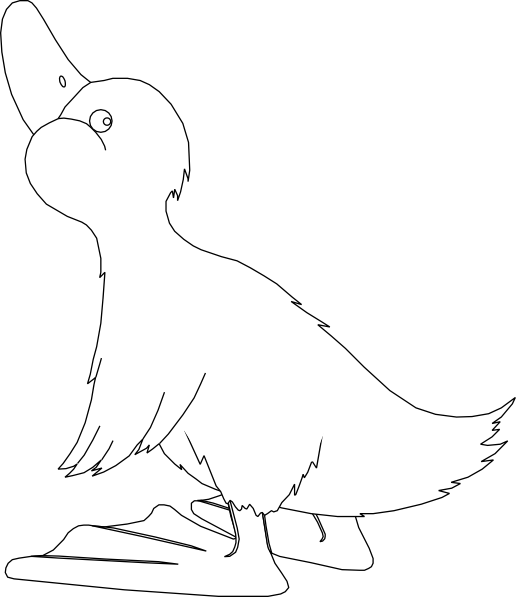 Black And White Duck Clip Art at Clker.com - vector clip art online ...
