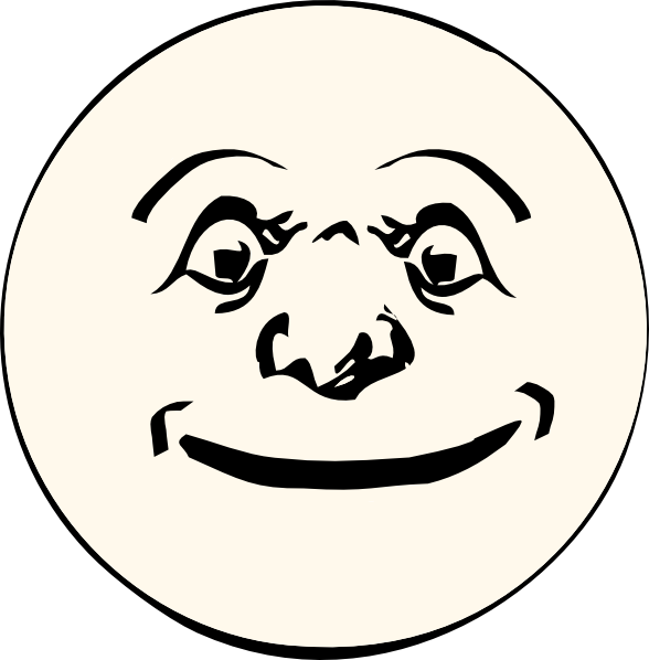 man in the moon clipart - photo #1