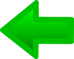 This Is A Back Arrow Colour In Green Clip Art