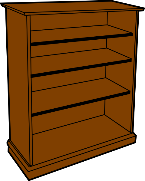 Wood Bookcase Clip Art at Clker.com - vector clip art ...
