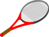 Red Tennis Racket Clip Art