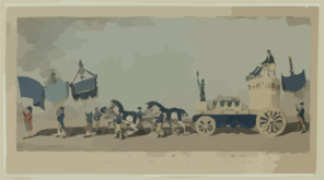 An Exact Representation Of The Principal Banners And Triumphal Car, Which Conveyed Sir Frances Burdett To The Crown And Anchor Tavern On Monday June 29th, 1807 - Dedicated To The 5134 Independent Electors Of Westminster Clip Art