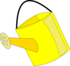 Empty Yellow Watering Can Clip Art