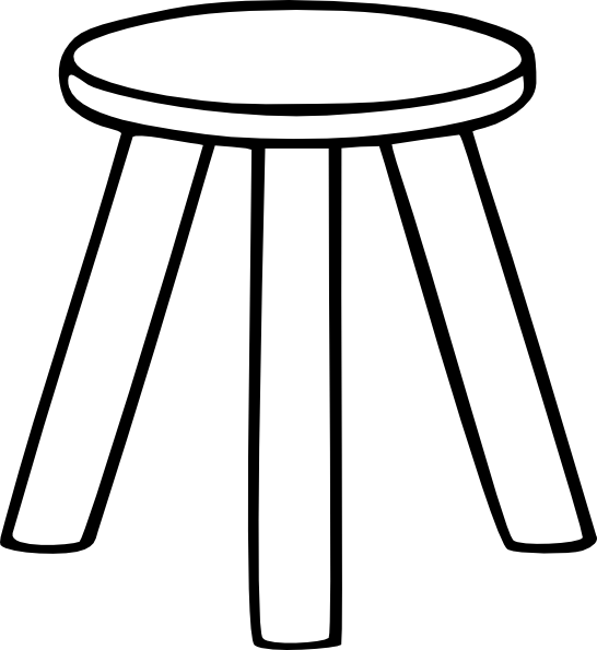 Three Legged Stool Outline Clip Art at Clkercom vector  : three legged stool outline hi from www.clker.com size 546 x 595 png 27kB