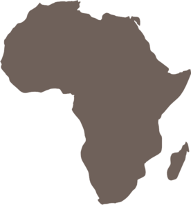 africa map black and white vector