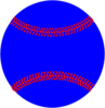Blue Baseball, Red Lacing Clip Art