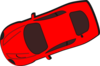 Red Car - Top View - 200 Clip Art