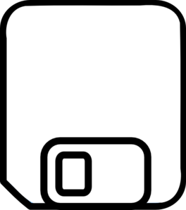 Plain Floppy Disk (save) Clip Art