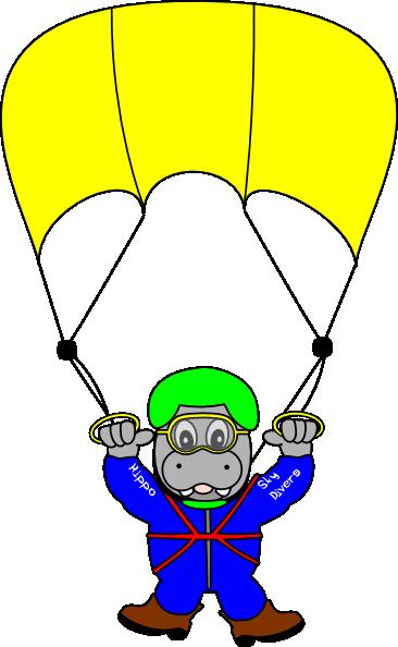 Skydiver Clipart Sky diver hippo clip art
