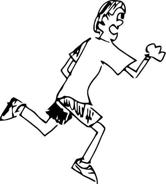 Running Boy Clip Art at Clker.com - vector clip art online, royalty ...
