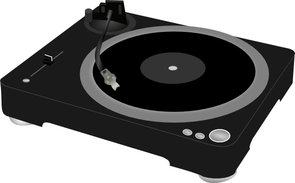 dj turntable clip art at clkercom vector clip art