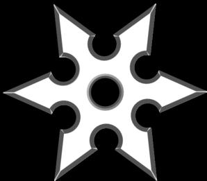 Ninja Shirken Star Clip Art at Clker.com - vector clip art ...