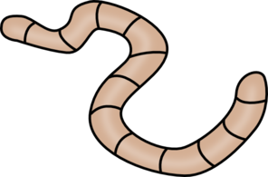 Brown Earth Worm Clip Art
